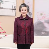 2018新款毛呢外套中老年人女装妈妈装春装短款奶奶装秋装呢子上衣