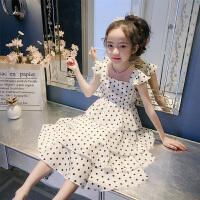 女童无袖连衣裙夏装儿童背心裙中大童时尚公主裙