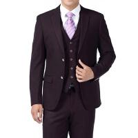 西服三件套中青年男装西装结婚新郎礼服中年男韩版西装套装春