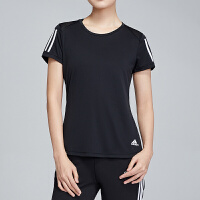adidas阿迪达斯女服短袖T恤2019圆领修身跑步运动服DQ2618