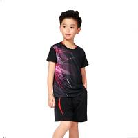儿童羽毛球服套装男童女童夏季短袖乒乓球运动服速干