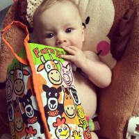 尾巴布书早教益智宝宝立体布书婴儿玩具撕不烂带响纸