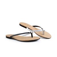 伊贝拉(YI-BELLA)夏季新款凉拖鞋休闲舒适平跟夹脚拖鞋女鞋沙滩人字拖鞋
