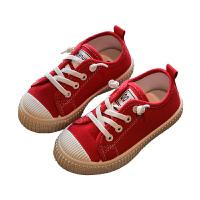 �和�帆布鞋����鞋子男女童板鞋幼��@室�刃�