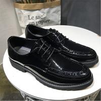 男士休闲皮鞋绅士亮面黑色皮鞋发型师婚礼商务时尚鞋