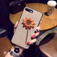 苹果7/8plus手机壳挂绳iPhone6s保护套苹果X软壳冬天女款