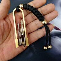 手工黄铜钥匙扣简约创意牛男佩戴钥匙扣纯铜汽车金属钥匙圈创意件礼物