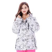 滑雪服上衣男女情侣款韩国冬季户外加厚保暖防风防水透气滑雪衣 白色闪电上衣