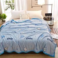 珊瑚绒毯子加厚法兰绒毛毯夏季空调单人午睡毛巾夏凉被子薄款床单T