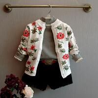 儿童外套春季女童花朵圆领开衫 童装外套 178173