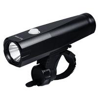 自行车灯强光防水USB充电山地车车前灯单车夜骑手电筒