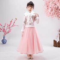 女童汉服冬装过年旗袍中国风唐装女孩秋冬礼服儿童古装拜年服