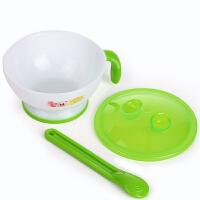 日康 宝宝带盖研磨碗+勺子两件套 可微波炉辅食器婴儿餐具RK3802