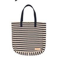 帆布包手提包条纹时尚休闲购物袋个性大容量手挽包 支持礼品卡支付