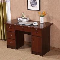 办公桌简约现代单人台式电脑桌书桌写字台带抽屉带锁家用办公桌子 加厚款
