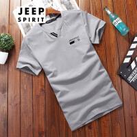 吉普Jeep男装T恤户外男士休闲短袖T恤夏款轻便吸汗透气短T运动打底衫短T