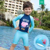 泳衣男童小猪佩奇儿童连体游泳衣中大童小童宝宝泳衣幼儿游泳衣