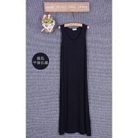 韩观春夏女装新款韩版无袖莫代尔背心长裙加大码打底裙宽松吊带连衣裙