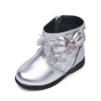 hellokitty女童鞋女童小皮鞋儿童短靴秋冬加绒新款公主鞋皮靴鞋子K6480DD907