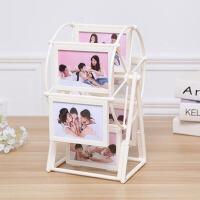 萌味 相片框风车摆台欧式摩天轮相框组合客厅5寸创意儿童相片组合框个性生日相册礼品婚纱相架