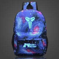 新款科比书包运动曼巴篮球双肩包男校园 中学生旅行休闲夜光背包