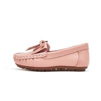 女童豆豆鞋2020新款�r尚�涡��和�公主鞋�底小皮鞋