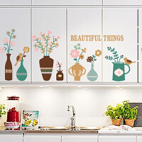 客厅沙发背景墙纸贴画厨房橱柜温馨卧室装饰墙壁贴纸美式田园墙贴