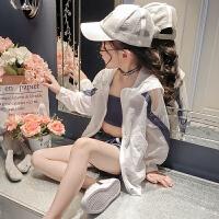 童装女童夏装2018新款韩版中大童时尚夏季防晒三件套洋气时髦套装
