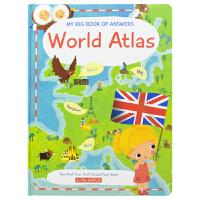 My Big Book of Answers Word Atlas 幼儿问答大百科幼儿英语科普翻翻书 世界地图 英文原