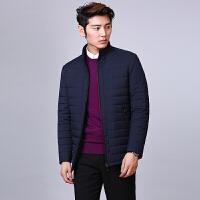 男式棉衣中年商务休闲外套羽绒棉男装短款韩版修身立领男