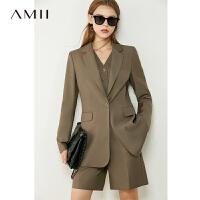 【超品预估价237】Amii极简轻熟炸街西装马甲套装2020秋季新款休闲时尚裤装两件套女