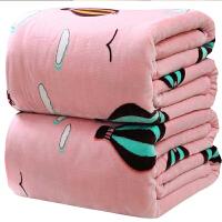 铺床毛毯被子法兰绒加厚保暖单人学生宿舍冬季珊瑚绒床单单件双人 i6p