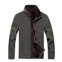 秋冬新品大码加厚抓绒卫衣男上衣户外开衫男士加绒卫衣摇粒外套