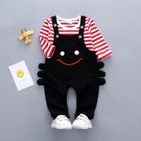 女童春装儿童0-1-2-3岁半4女婴儿秋季小孩衣服女宝宝背带裤套装潮