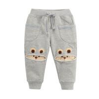 男女中小童宝宝婴儿运动长裤 童装 春秋儿童针织裤子 灰 色