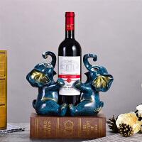 欧式大象红酒架摆件客厅酒柜装饰品创意家居摆设乔迁开业礼品