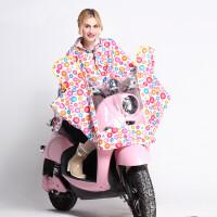 明嘉电动车摩托车单人雨衣女成人骑行加大加厚电瓶车雨衣雨披806
