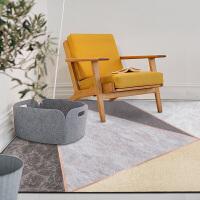 几何图案客厅地毯 北欧金属风简约沙发地垫房间长方形脚垫