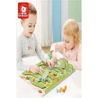 小学生棋类益智玩具双面棋盘桌游毛毛虫蛇棋飞行棋儿童游戏棋