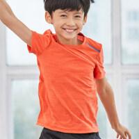 户外儿童上衣男童女童宝宝短袖t恤运动圆领运动快干透气