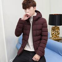 冬季男士2019新款韩版潮流连帽休闲棉服加厚保暖时尚外套帅气棉衣