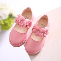 女童小皮鞋公主鞋软底宝宝鞋儿童单鞋防滑豆豆鞋