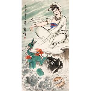 刘继卣《观音》著名画家
