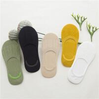 5双装船袜女竹纤维浅口女袜硅胶纯棉隐形袜短袜豆豆袜子 均码