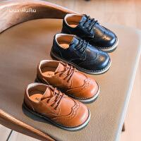 儿童时尚男童黑色软底鞋子女童百搭单鞋宝宝鞋