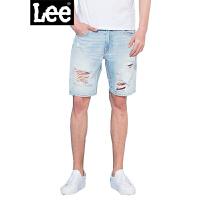 Lee男装 2018新品中腰修身破洞休闲牛仔短裤 L270261YL5FD