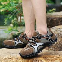 防滑耐磨徒步鞋登山鞋四季夏季男女新款旅游鞋�W面透�庑��敉膺\�有蓍e鞋