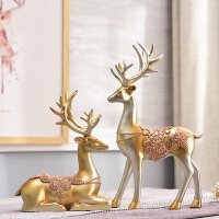客厅家居装饰品酒柜摆件鹿饰品摆设小欧式办公室玄关房间创意美式