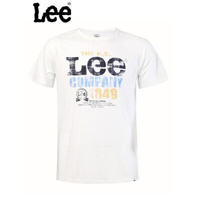 Lee 【断码】男士印花夏季短袖t恤L11005J06W00男士T恤