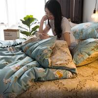 高支高密床上用品四件套全棉纯棉1.8m1.5米床床单被套简约